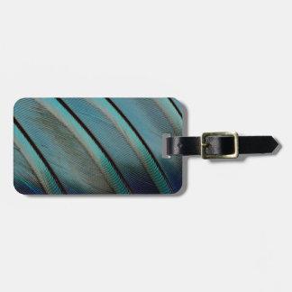 Etiqueta Para Maletas Modelo azul de la pluma