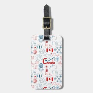 Etiqueta Para Maletas Modelo de los símbolos de Canadá el |
