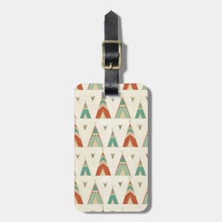 Etiqueta Para Maletas Modelo geométrico de la tienda de los indios