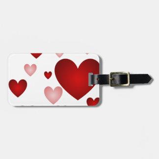 Etiqueta Para Maletas Modelo rojo del corazón