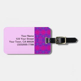 Etiqueta Para Maletas Modelo rosado brillante del extracto de la