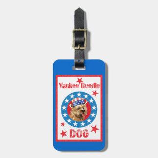 Etiqueta Para Maletas Mojón Terrier patriótico