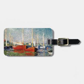Etiqueta Para Maletas Monet - los barcos rojos Argenteuil