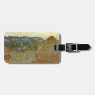 Etiqueta Para Maletas Monet - pintura clásica de Wheatstacks