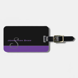 Etiqueta Para Maletas Monograma de encargo 5 (púrpura)