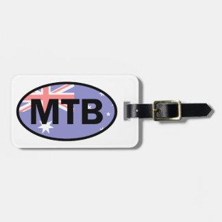 Etiqueta Para Maletas Montaña Biking la bandera de Australia