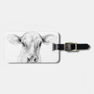 Etiqueta Para Maletas MOO una vaca joven del jersey