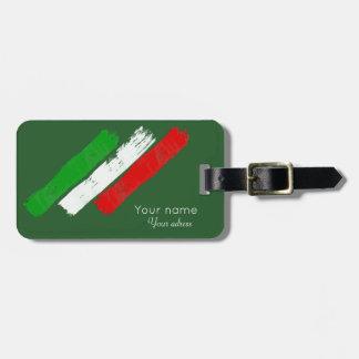 Etiqueta Para Maletas Movimientos italianos de flag.brush. nombre .text.