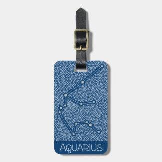 Etiqueta Para Maletas Muestra del horóscopo de la estrella del acuario -