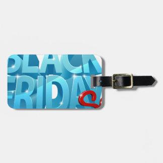 Etiqueta Para Maletas Muestra negra de la venta 3D de viernes