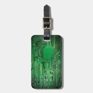 Etiqueta Para Maletas Negro verde elegante fresco de la placa de