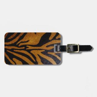 Etiqueta Para Maletas Negro y diseño del modelo del tigre de Brown