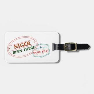 Etiqueta Para Maletas Niger allí hecho eso