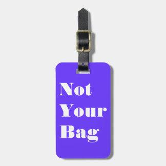 Etiqueta Para Maletas No su bolso