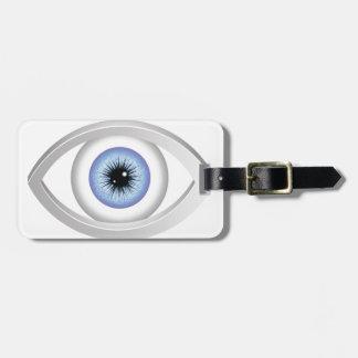 Etiqueta Para Maletas ojo azul