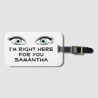 Etiqueta Para Maletas Ojos verdes de espionaje e identificación de los