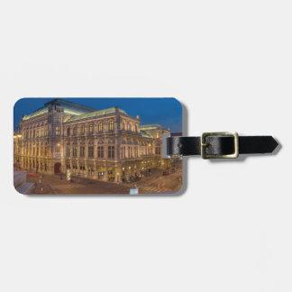 Etiqueta Para Maletas Ópera del estado de Viena, Austria