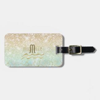 Etiqueta Para Maletas Oro del ópalo ID435 de la pendiente combinada del
