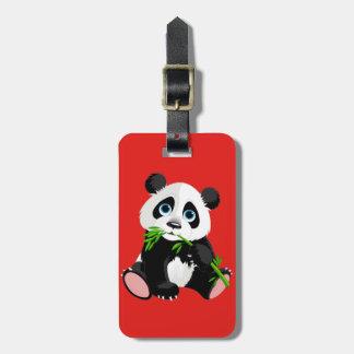 Etiqueta Para Maletas Oso de panda lindo del dibujo animado