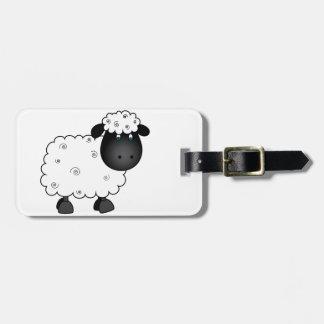 Etiqueta Para Maletas Ovejas del bebé para la oveja