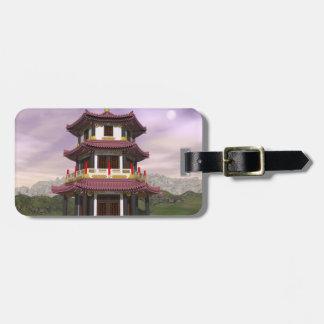 Etiqueta Para Maletas Pagoda en naturaleza - 3D rinden
