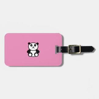 Etiqueta Para Maletas Panda linda en rosa en colores pastel