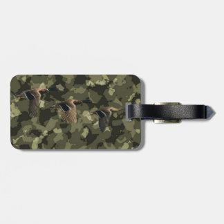 Etiqueta Para Maletas Pato militar al aire libre del pato silvestre del