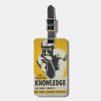 Etiqueta Para Maletas Pensador WPA retro del conocimiento del poster de