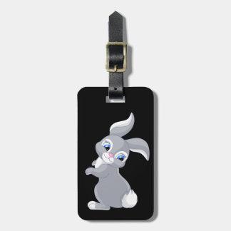 Etiqueta Para Maletas Pequeño conejo de conejito lindo