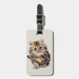 Etiqueta Para Maletas Pequeño gatito lindo