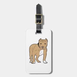 Etiqueta Para Maletas Perro personalizado de Pitbull del americano