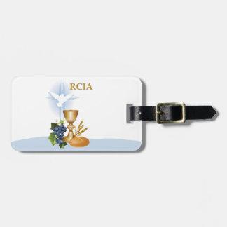 Etiqueta Para Maletas Personalice, sacramento del católico de RCIA