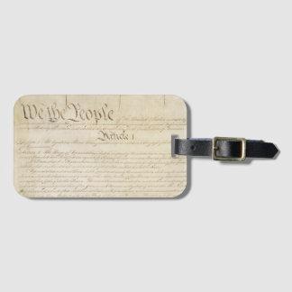 Etiqueta Para Maletas Personalizable nosotros la constitución de la