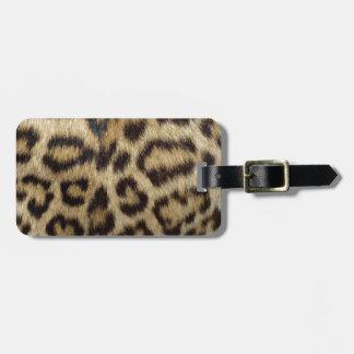 Etiqueta Para Maletas Piel manchada del leopardo
