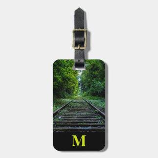 Etiqueta Para Maletas Pistas de ferrocarril del bosque del verano del