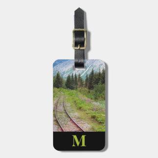 Etiqueta Para Maletas Pistas de ferrocarril del prado del verano del