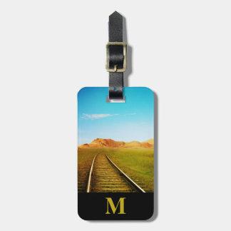 Etiqueta Para Maletas Pistas de ferrocarril del sudoeste del viaje del