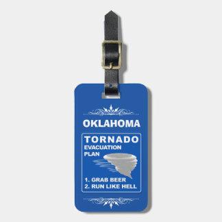 Etiqueta Para Maletas Plan de evacuación del tornado; -)