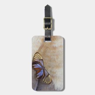 Etiqueta Para Maletas pluma egipcia del ganso de la mariposa del