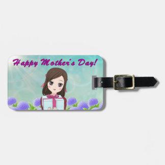 Etiqueta Para Maletas Presente feliz del día de madre (personalizable)