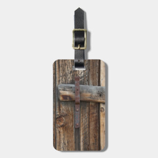 Etiqueta Para Maletas Primer de madera de la puerta, California
