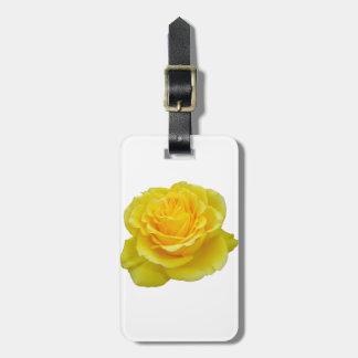 Etiqueta Para Maletas Primer hermoso del rosa amarillo aislado