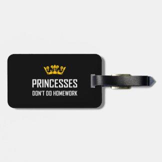 Etiqueta Para Maletas Princesas Do Not Do Homework
