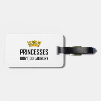 Etiqueta Para Maletas Princesas Do Not Do Laundry