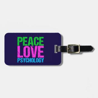 Etiqueta Para Maletas Psicología del amor de la paz del psicólogo