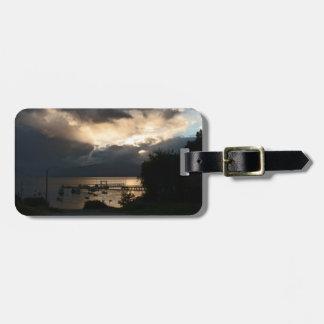 Etiqueta Para Maletas Puesta del sol patagona nublada