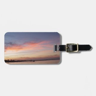 Etiqueta Para Maletas Puesta del sol sobre la bahía de la Florida, Largo
