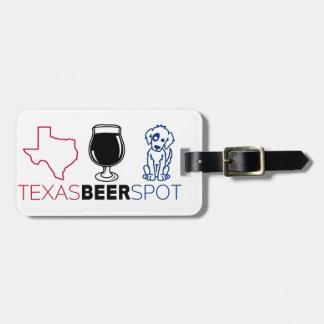 Etiqueta Para Maletas Punto de la cerveza de Tejas