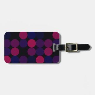 Etiqueta Para Maletas Puntos púrpuras