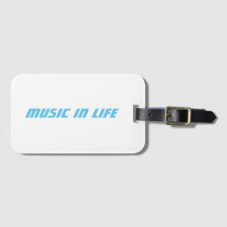 Etiqueta Para Maletas Ranura para tarjeta del negocio - música en